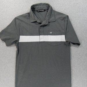 Travis Mathew Striped S/S Golf Pocket Polo Shirt